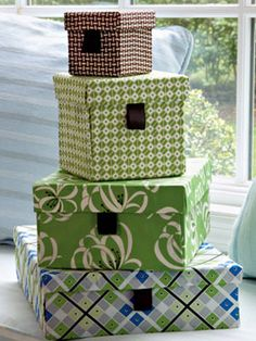 fabric covered boxes craft project