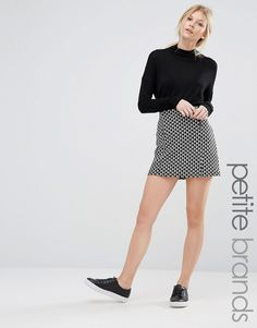 New+Look+Petite+Jacquard+Mini+Skirt