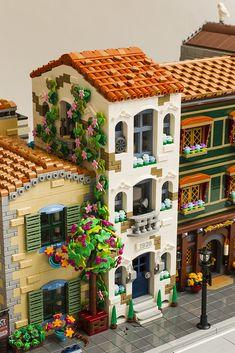 Lego City, Diy Lego, Lego Furniture, Lego Display, Lego Pictures, Amazing Lego Creations, Lego Modular, Lego Construction, Lego Room