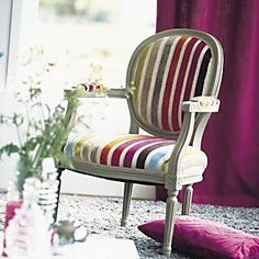 Love the chair! Furniture, Living Room Chairs, Furniture Removal, Comfortable Accent Chairs, Furniture Chair, Reupholster Chair, Painted Chairs, Classic Furniture, Modern Upholstery