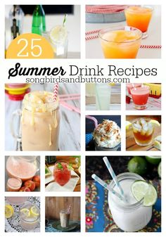 They ALL include ICE! So when it's toasty outside - you'll stay nice and cool! Summer Drink Recipes, Summer Drinks, Summer Fun, Fun Cocktails, Fun Drinks, Cold Drinks, Smoothie Drinks, Smoothie Recipes, Smoothies