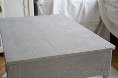 White Desk Chalk paint