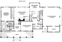 First Floor Plan of Cottage Country Farmhouse Traditional House Plan 86191 Cottage Style House Plans, Cottage Style Homes, Farm House, Rustic Home Design, Farmhouse Design, Farmhouse Plans, Country Farmhouse, Traditional House Plans, Roof Plan