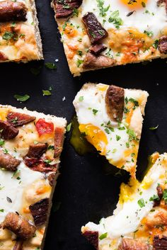 This flatbread's packed with bacon, sausage, eggs and cheese for a true breakfast of champions.