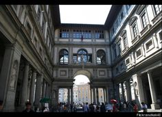Another view of the Ufizzi Gallery, Florence