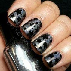 #galaxy #stars #nail #design
