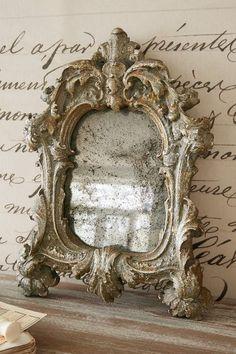 Avalon Mirror - Tarnished Silver Mirror
