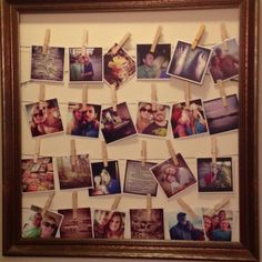 frame with string and clothespins (for the cabin)