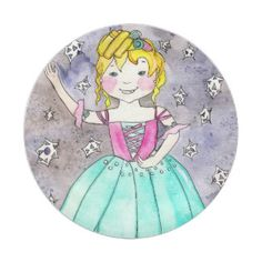Sugarplum Fairy Paper Plate Head Start, Paper Plates, Party Hats, Funny Cute, Birthday Parties, Art Pieces, Kids Shop, Fairy, Illustration