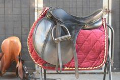 HiWither velvet saddlepad with braid FC) - Griffin NuuMed Saddle Blanket, Fashion Backpack, Braids, Velvet, Colours, Backpacks, Style, Nice Braids, Cornrows