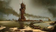 dust industry, sparth - nicolas bouvier on ArtStation at https://www.artstation.com/artwork/dust-industry