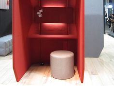Here is a nice more workable office phone booth.  A place to sit with some lighting and a surface to place items on like a laptop or Ipad.  Maybe just a pad and pencil.  www.ofw.com/pinterest