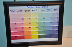 My version of the paint chip calendar.