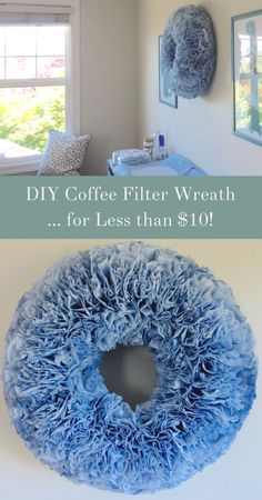 DIY dyed coffee filter wreaths are easy and oh-so-affordable!  Check out this beginner friendly DIY coffee filter wreath tutorial to make your dyed wreath for under $10!    http://www.homebeautifully.com/dyed-coffee-filter-wreath/