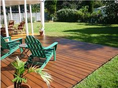 nice how even the deck is with the yard...maybe have one small step from sliding back door onto deck and the deck is even with yard.