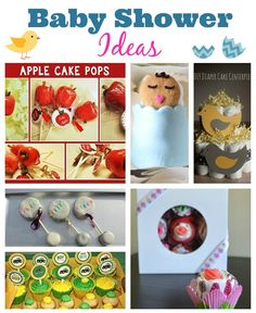 25 Baby Shower Ideas - from TONS of baby shower games (including printables) to baby shower food, themes, and more! See baby shower decorations too!