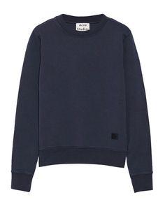 Cropped: Acne Studios Vernina Cotton-Blend Sweatshirt