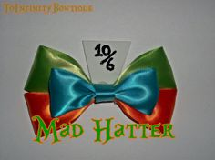 Mad Hatter Disney Inspired hair bow by ToInfinityBowtique on Etsy, $8.25