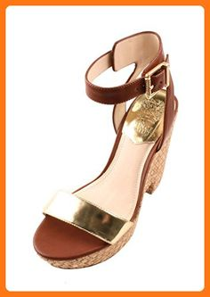 c2510d7e11 Vince Camuto Rincona Womens Saddle/Copper Leather Wedge Sandals (*Partner  Link)