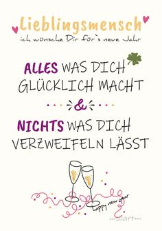 {happy write} Happy New Year Lieblingsmensch Happy New Year favorite person, wishes for New Years and New Years, lettering card, Happy New Year Message, Happy New Year Quotes, Happy New Year Images, Happy New Year Wishes, Quotes About New Year, Happy Quotes, Funny Quotes, Happy Greetings, Nouvel An Citation