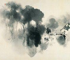 竹内栖鳳 Seiho Takeuchi『水村』昭和9(1934)年 京都市美術館蔵