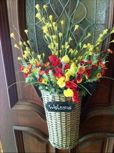 Beautiful Welcome Basket at the front door.
