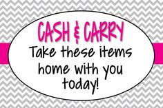 Cash and Carry!! :) $5 Accessories!