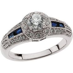 White Gold Engagement Polished Ring or Matching Band