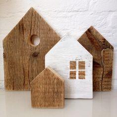 Straatje houten huisjes 2