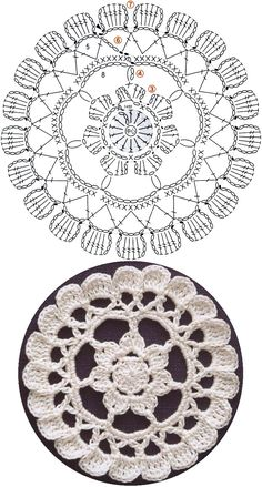 This Pin was discovered by Све Crochet Mandala Pattern, Crochet Square Patterns, Crochet Circles, Crochet Diagram, Crochet Stitches Patterns, Crochet Chart, Crochet Squares, Crochet Doilies, Crochet Lace