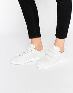 Adidas   adidas Orginals Velcro Stan Smith In Snake Suede Sneakers at ASOS