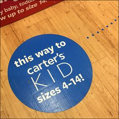 This-Way-Kid's Floor-Graphic Breadcrumb-Trail – Fixtures Close Up Carters Store, Speech Balloon, Floor Graphics, Carter Kids, Store Fixtures, Bread Crumbs, Little Babies, Close Up, Trail