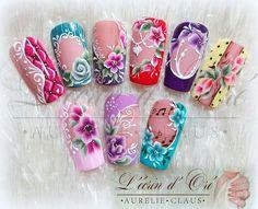 Cute Acrylic Nail Designs, Diy Nail Designs, Best Acrylic Nails, Beautiful Nail Designs, Beautiful Nail Art, Cute Toe Nails, Pretty Nails, Bling Nails, 3d Nails