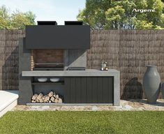 Outdoor Barbeque Area, Outdoor Grill Station, Modern Outdoor Kitchen, Outdoor Oven, Design Barbecue, Parrilla Exterior, Barbecue Garden, Brick Bbq, Outdoor Sinks