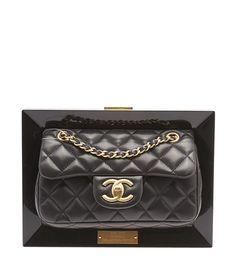 Chanel A69767 Frame Flap Black Quilted Leather Shoulder Bag