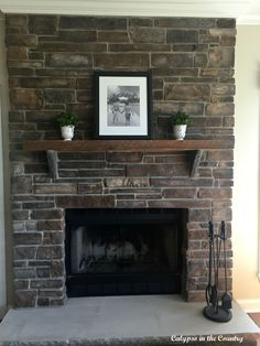 Calypso In The Country: Rustic Stone Fireplace