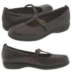 P.W. Minor Diva T-strap Comfort Support Shoes Brown Leather 7 M  New #PWMinor #Tstrap