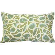 The Jamaica Seamist pillow is a stunning rectangular indoor-outdoor pillow in green, blue and cream, made from Outdura solution dyed acrylic. Green Throw Pillows, Throw Pillow Sets, Outdoor Throw Pillows, Lumbar Pillow, Pillow Covers, Outdoor Fabric, Indoor Outdoor, Blue Ivory, Blue And White
