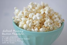 Honey Butter Popcorn Recipe (use either honey or maple syrup)