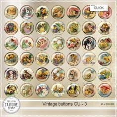 CAJOLINE-SCRAP: Vintage buttons 3 - CU