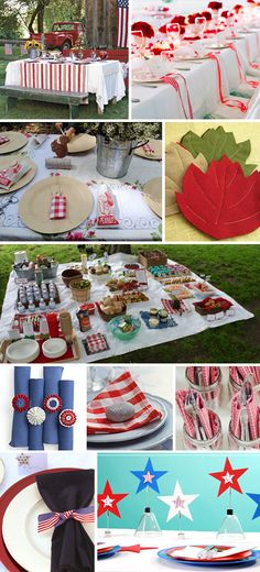Patriotic Parties Table Settings