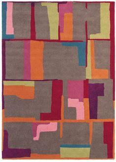 Tapis marron ESTELLA FRAGMENT taupe en laine de la collection Brink and Campman