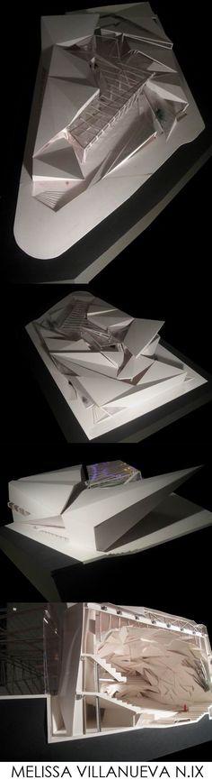 09-VILLANUEVA-00 Triangular Architecture, Floating Architecture, Parametric Architecture, Urban Architecture, Architecture Drawings, Beautiful Architecture, Famous Architects, Zaha Hadid Architects, Concept Models Architecture