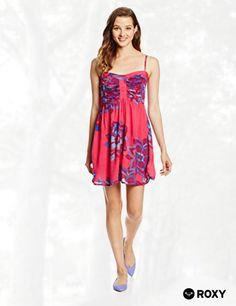 Roxy Juniors Hot Flash Woven Printed Tank Dress