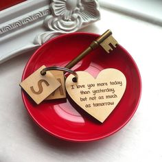 personalised love keyring by auntie mims | notonthehighstreet.com