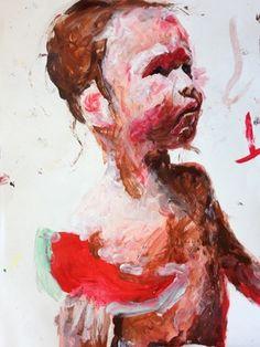 "Saatchi Art Artist: Oliver Bukowski; Acrylic 2013 Painting ""John the baptist"""