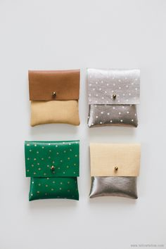 DIY: faux-leather pouches
