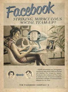 Cool old-school Facebook poster