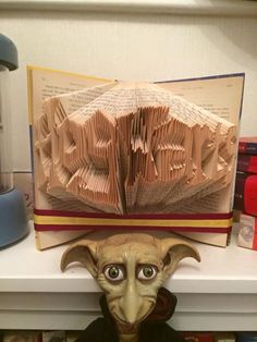 Harry potter folded book art pattern free