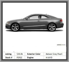 2010 Audi A5 2.0T quattro Premium Plus Coupe   Independent Rear Suspension, Engine Immobilizer, 4-Wheel Abs Brakes, Power Remote Trunk Release, Fold Forward Seatback Rear Seats, Sirius Satellite Radio(Tm), Rear Head Room: 36.0, Body-Colored Bumpers, Speed Sensitive Audio Volume Control, Front Head Room: 39.1, Tachometer, Leather/Metal-Look Shift Knob Trim, Overhead Console:
